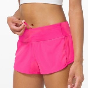 "NWT Lululemon Speed Short 2.5"" Pink Highlight 6"